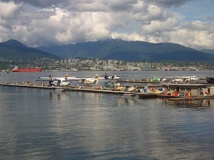 The Vancouver harbour, whose future was almost certainly decided by the 2013 BC Election, on E-Day.